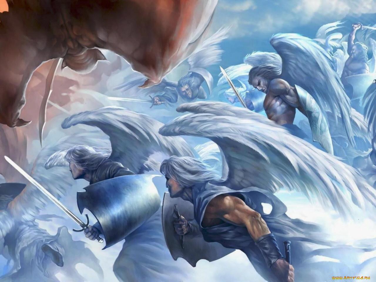 Война ангелов и демонов картинки